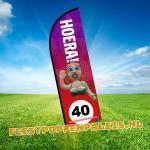 feestvlag - Jarige Vrouw - 40 jaar