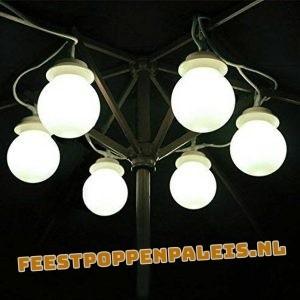 lichtbol feestverlichting tentverlichting LEDverlichting parasolverlichting