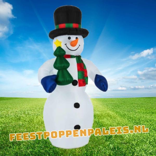 Opblaasbare sneeuwpop 240 cm - LED-verlichting