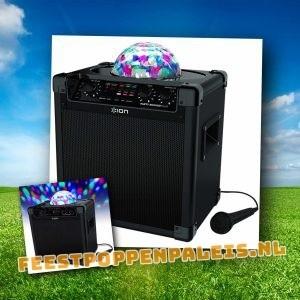 Partyspeaker 50 Watt - met lichtshow - accu