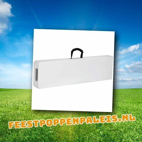 witte kunststof bierbank koffer