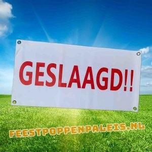 banner geslaagd!! - 80 x 40 cm
