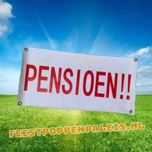 banner pensioen!! - 80 x 40 cm