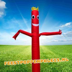 skydancer - luchtdanser - skytube - rood - 6 meter