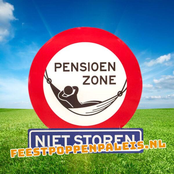 Pensioen zone - Huldeschild